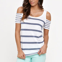 Kirra Short Sleeve Cold Shoulder Tee at PacSun.com