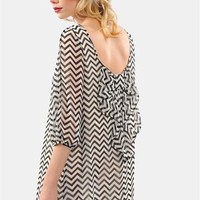 Waldorf Bow Dress - Black/White