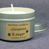 Cinnamon & Sugar Soy Candle Tin - Hand Poured and Highly Scented Container Candles