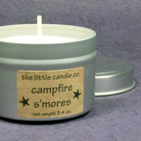 Campfire S'mores Soy Candle Tin - Hand Poured and Highly Scented Fall Container Candles