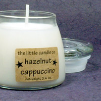 Hazelnut Cappuccino Soy Candle Jar - Hand Poured and Highly Scented Container Candles
