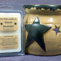Lemon Lavender Soy Wax Melt - Hand Poured and Highly Scented Soy Wax Tart