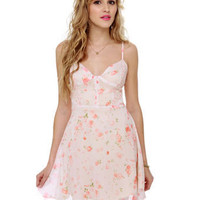 RVCA Transfixed Dress - Ivory Dress - Floral Print Dress - $52.00