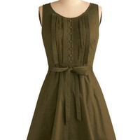 Olive Branch Dress | Mod Retro Vintage Printed Dresses | ModCloth.com
