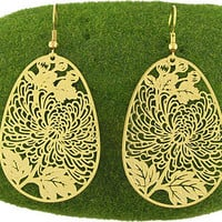 Filigree earrings-Gold - 