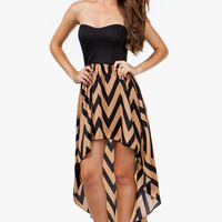 A'GACI Zig Zag Hi Lo Busier Dress - DRESSES