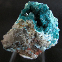 Mineral Specimen - Dioptase on Quartz - Kandesei, Kaokoveld Plateau, Namibia
