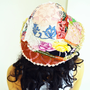patchwork multicolored hat authentic hat retro lace hat beach summer hat flowering beaded embroidery hat girl hat