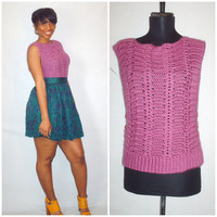 Vintage 1980s Crochet Sweater