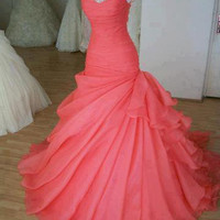Cute Ball Gown Sweetheart Sweep Train Prom Dress/Wedding Party Dress