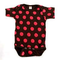 Brown & Pink Polka Dot One Piece 12m