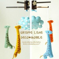 GIRAFFE LANE Baby Mobile custom color listing now by GiftsDefine
