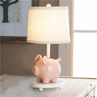 Circus Piggy Bank Lamp- Plain Shade - Shades of Light