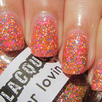 Summer Lovin :  Custom-Blended Glitter Nail Polish / Lacquer