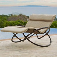 RST Outdoor Delano Double Orbital Lounger with Cushion Set