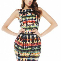 Ink Balloon Skirt V Back Dress