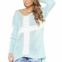 Cross Mohair Slouch Jumper