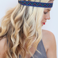 Aztec Hair Band Summer Style Geometric Print