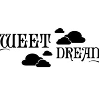 Sweet Dreams Wall Decal - Good Night Vinyl Sticker