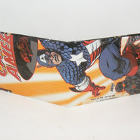 Comic Book Wallet// Captain America (Steve Rogers)