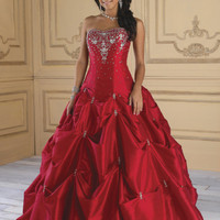 Red New Quinceanera Dress wedding Prom Ball Gowns Evening Party Dresses A Line