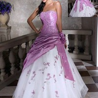 New Stock Long Formal Evening Dress Prom Ball Party Gown Size:6 8 10 12 14
