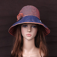 Fashion Reed-woven Flower Women Sunbonnet at Online Accessory Store Gofavor
