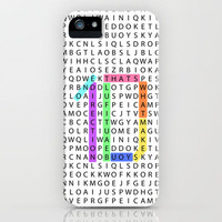 Wordsearch LOVE:  What Makes You Beautiful iPhone Case by Alice Gosling | Society6