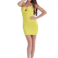 Bqueen Yellow Corset Dress H042Y