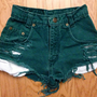 ONLY ONE! 22 Inch Waist Green High-Waisted Shorts