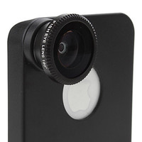 180 Degree Wide Angle Fish Eye Lens for iPhone 4 4S With Back Case