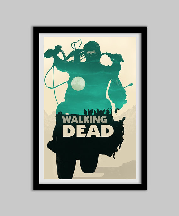 The Walking Dead Daryl Dixon Teal From Bigbadrobot On Etsy