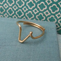 14k GF Personalized Wire Initial Ringany by Laladesignstudio