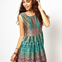 Band Of Gypsies Smock Dress In Indian Print at asos.com
