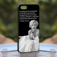 Marilyn Monroe Pretty Quote MQL0139 - Design available for iPhone 4 / 4S and iPhone 5 Case - black, white and clear cases