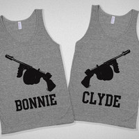Bonnie &amp; Clyde Partners in Crime Bestie Tanks