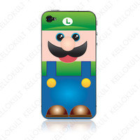 iPhone 4 Super Mario Luigi Skin by kellokult on Etsy