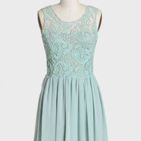 cherington crochet detail dress in mint at ShopRuche.com