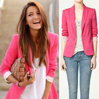Womens Tunic Blazer Foldable Sleeve Jacket Casual Suit Coat