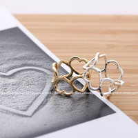 girlsluv.it - hollow HEART shaped ring, 2 colors