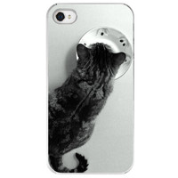 iPhone 4 /4S case Cat and Saucer B&amp;W cat  gift by SkyeZPhotography