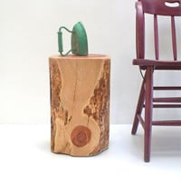 Tree Stump End Table Squared Redhead