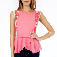 Picking Sides Peplum Tank $30