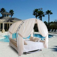 Outdoor Round Bed Set Size - 71 diam. x 87H in.: Patio, Lawn &amp; Garden
