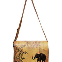 LAVISHY elephant vegan messenger bag/laptop bag