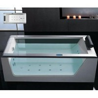 Whirlpool Bathtub With Inline Heater Drainage Device Waterfall Cascade Style Water Inlet Sydney Whirlpool System  Drainage