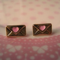 Love Letter Earrings Mini by Bitsofbling on Etsy