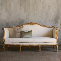 Vintage Daybed with Gold Frame