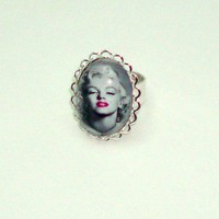 MARILYN MONROE Altered Art Silver Plated by JustBeadItDesigns