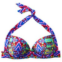 Xhilaration Junior&#x27;s Halter Swim Top -Geometric Print